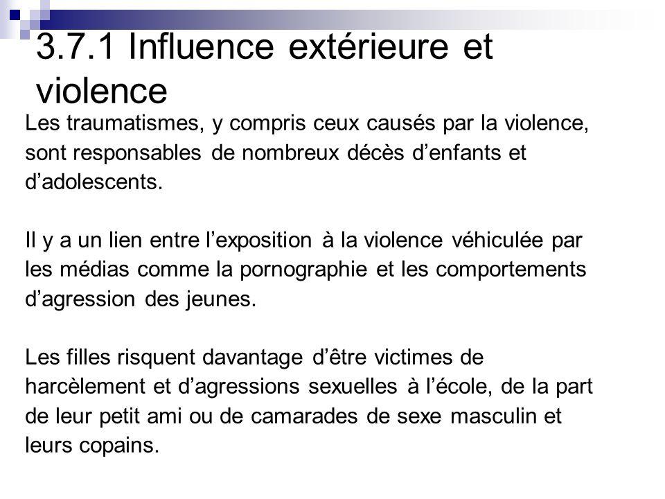 3.7.1 Influence extérieure et violence