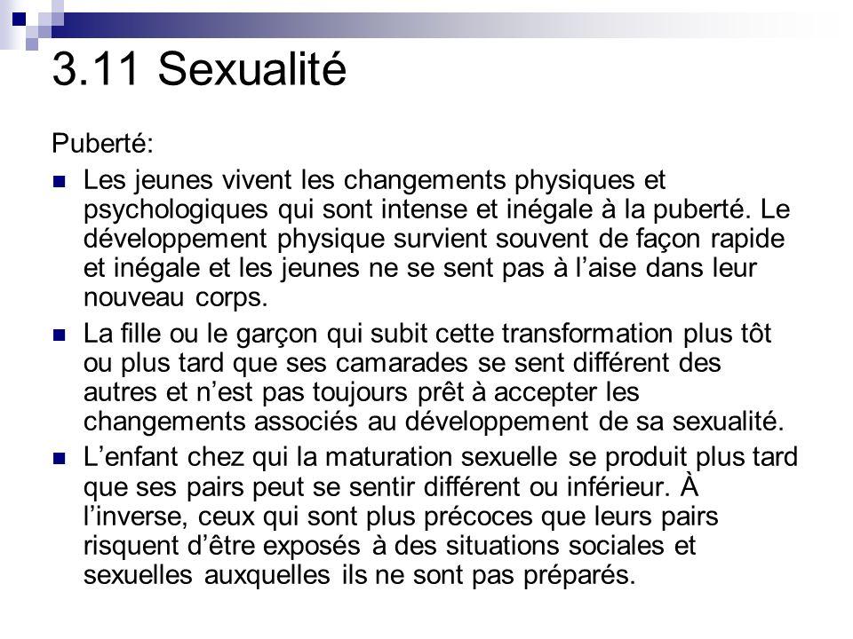 3.11 Sexualité Puberté: