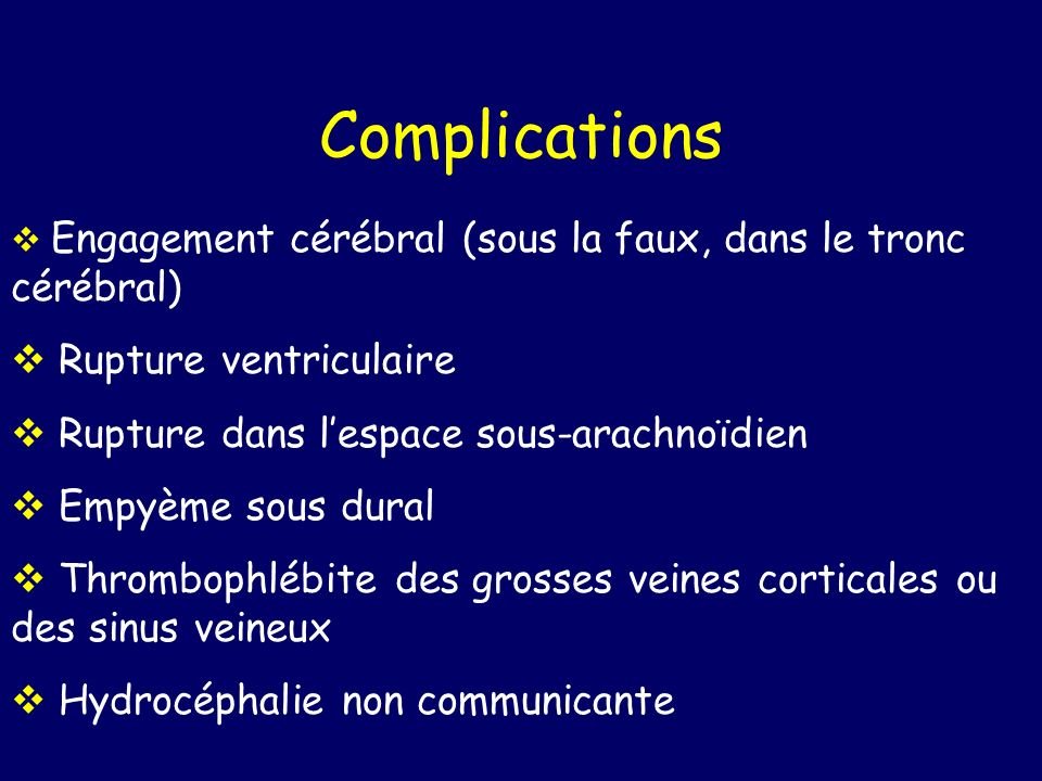 Complications Rupture ventriculaire