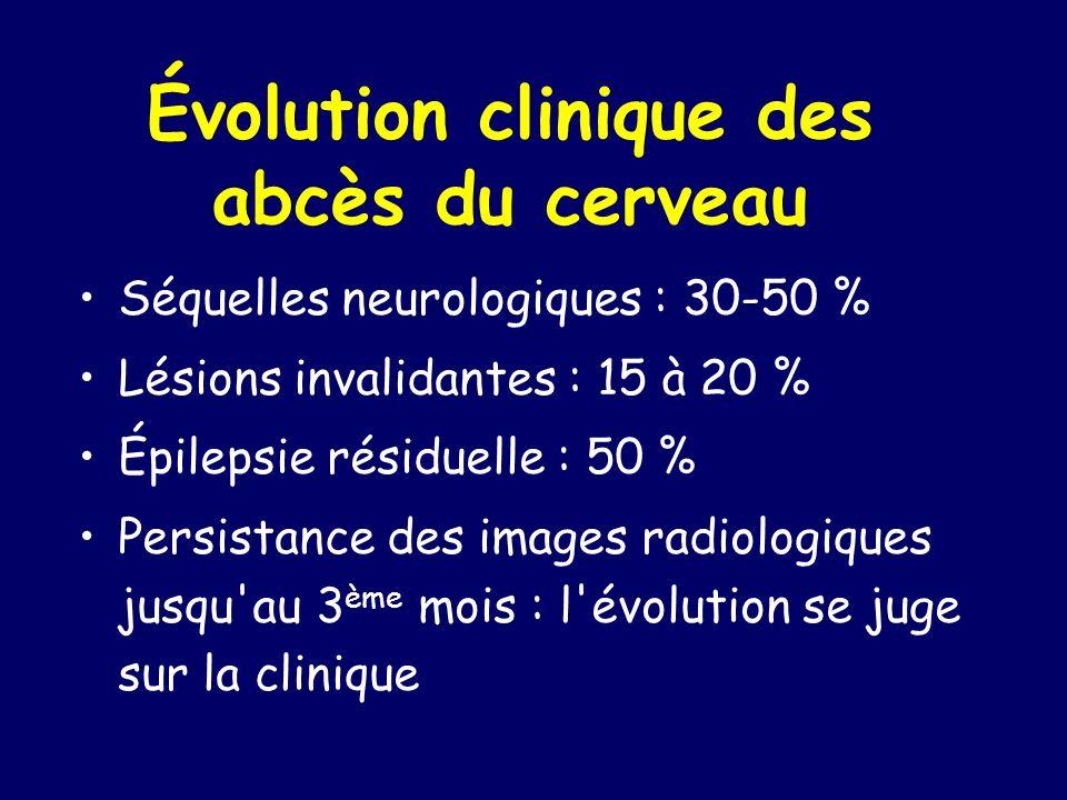 Évolution clinique des abcès du cerveau