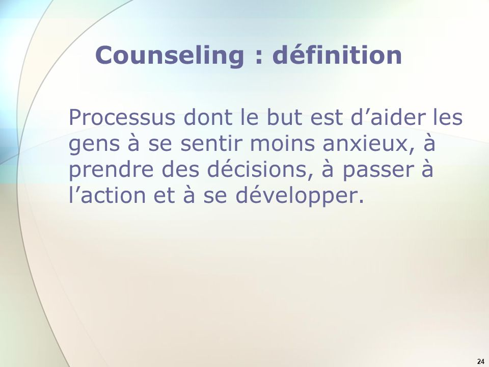Counseling : définition