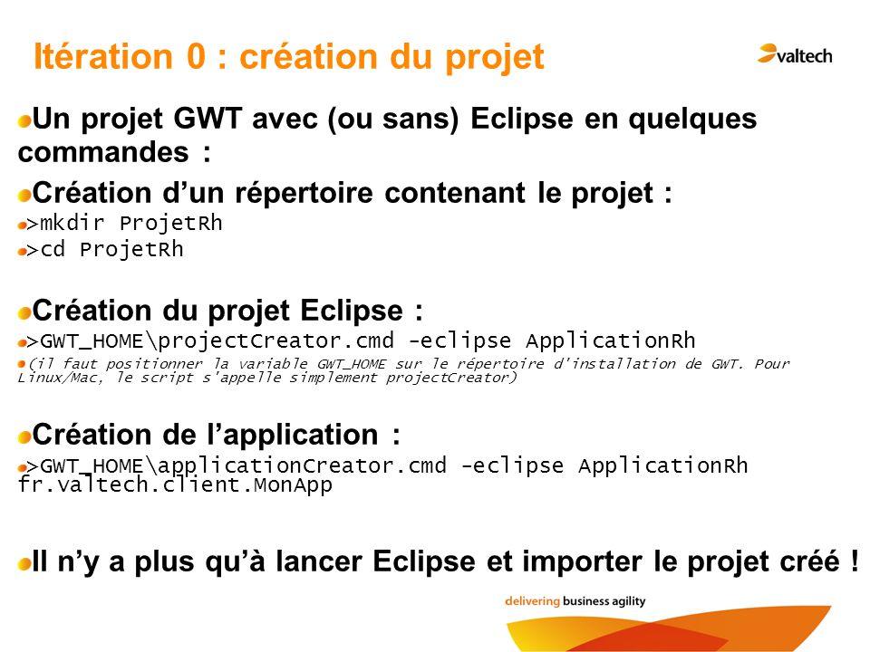 Itération 0 : création du projet