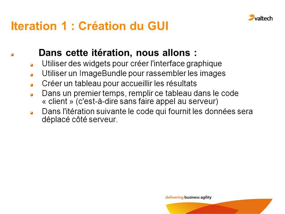 Iteration 1 : Création du GUI