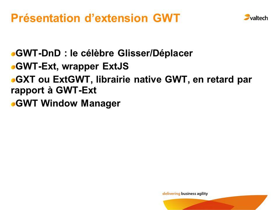 Présentation d'extension GWT