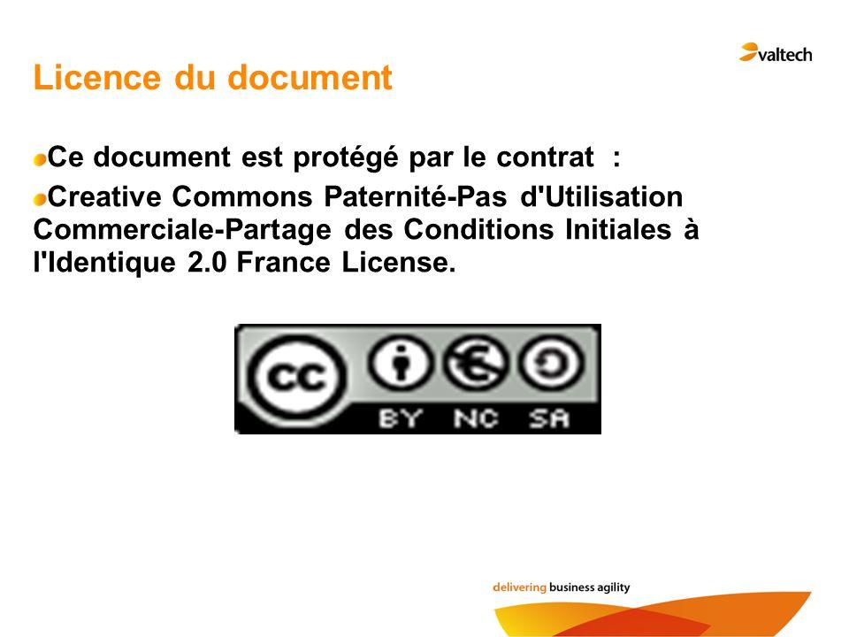 Licence du document Ce document est protégé par le contrat :