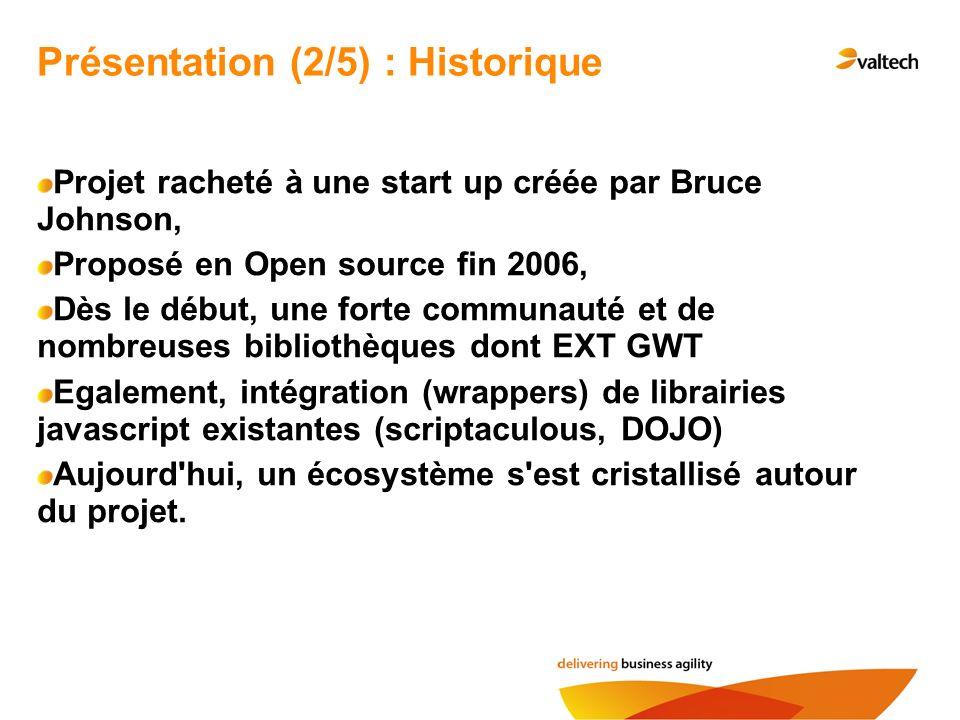Présentation (2/5) : Historique