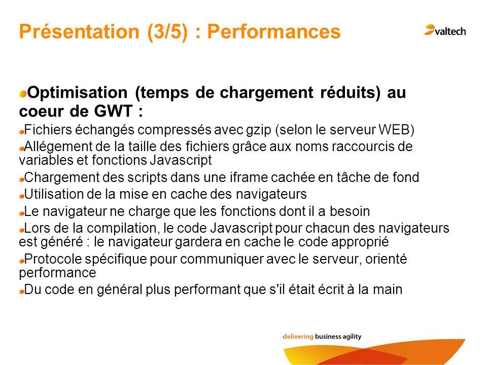Présentation (3/5) : Performances
