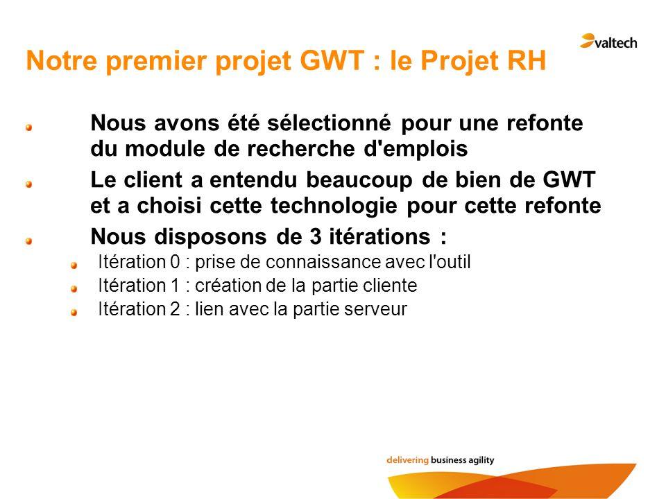 Notre premier projet GWT : le Projet RH