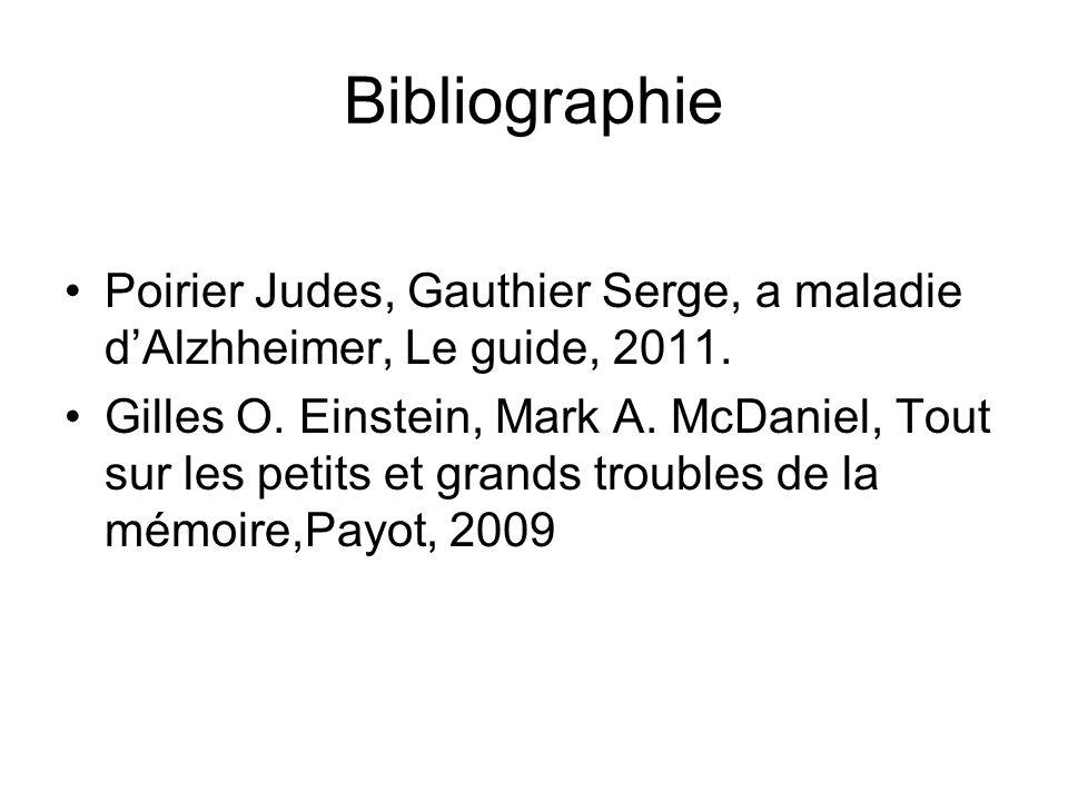 Bibliographie Poirier Judes, Gauthier Serge, a maladie d'Alzhheimer, Le guide, 2011.