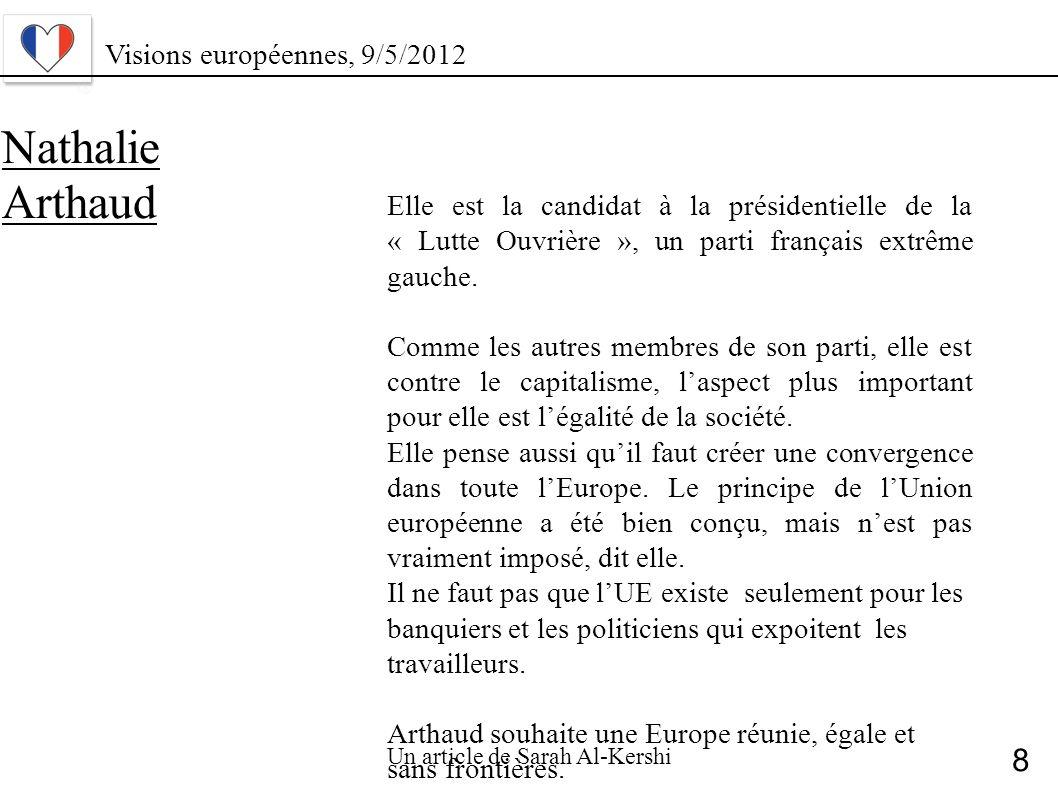 Nathalie Arthaud 8 Visions européennes, 9/5/2012
