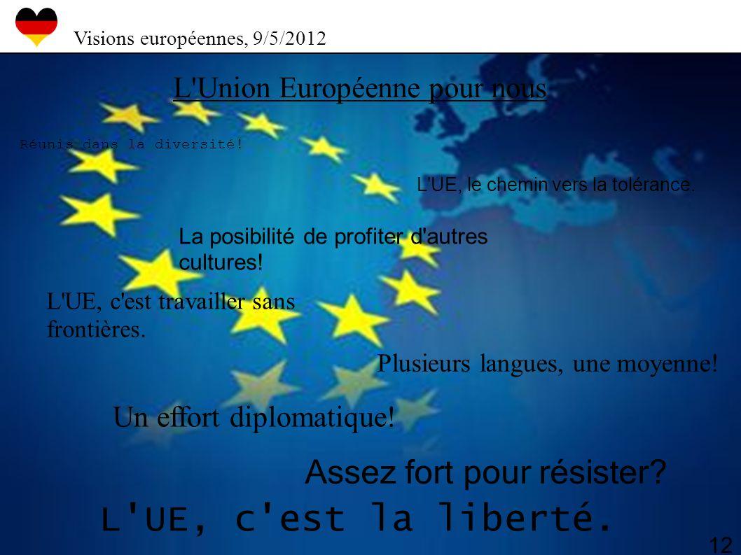 L UE, c est la liberté. Assez fort pour résister