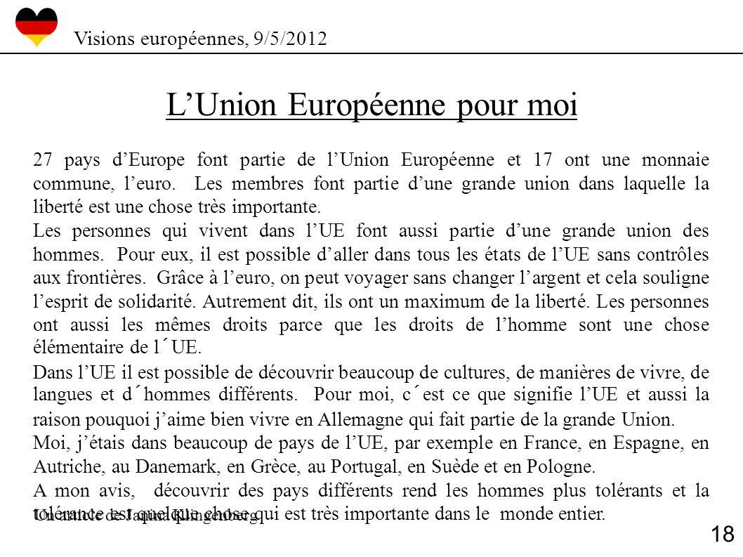 L'Union Européenne pour moi