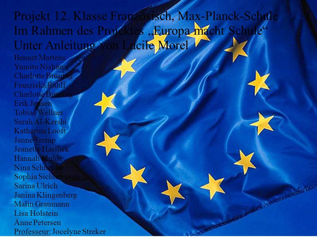 Projekt 12. Klasse Französisch, Max-Planck-Schule