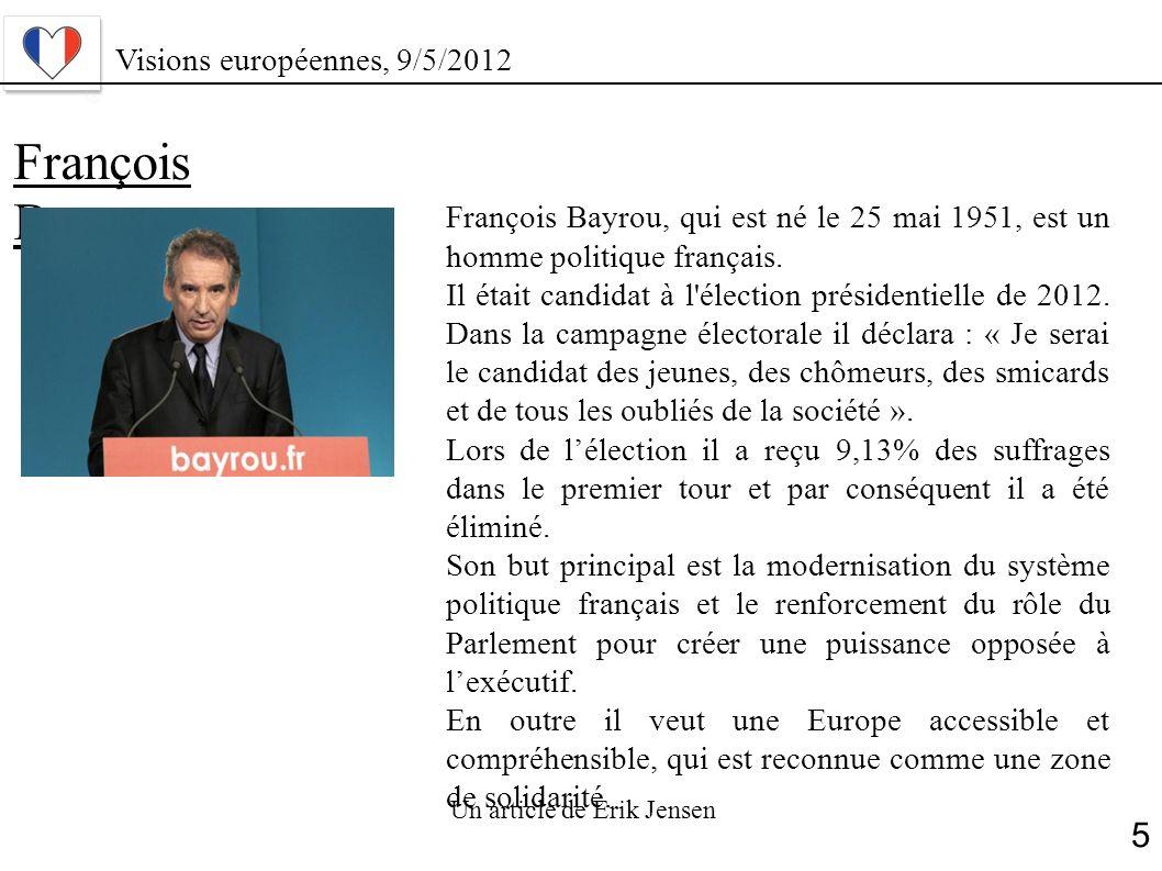 François Bayrou 5 Visions européennes, 9/5/2012