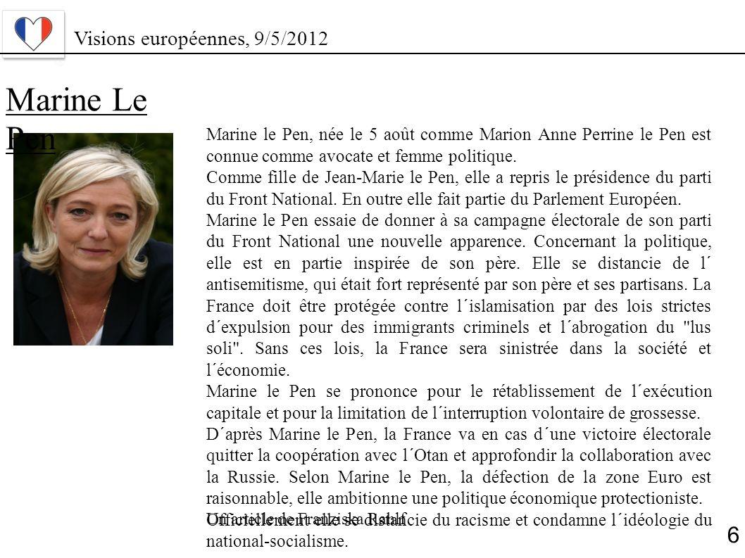 Marine Le Pen 6 Visions européennes, 9/5/2012