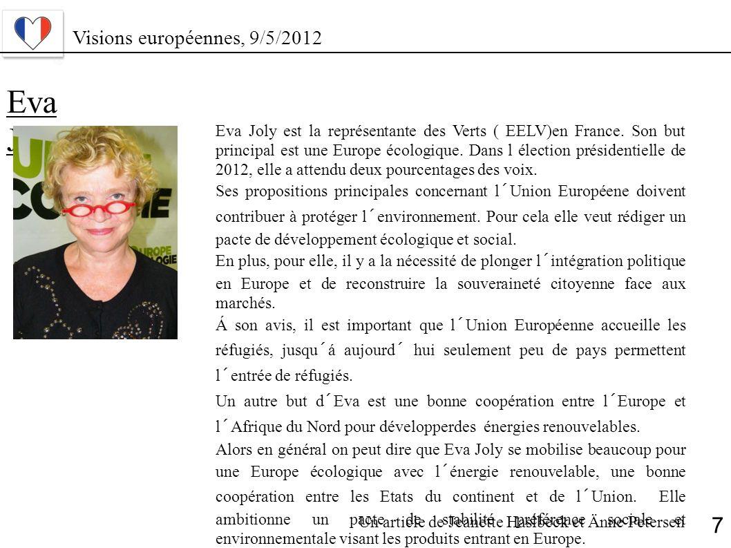 Eva Joly 7 Visions européennes, 9/5/2012