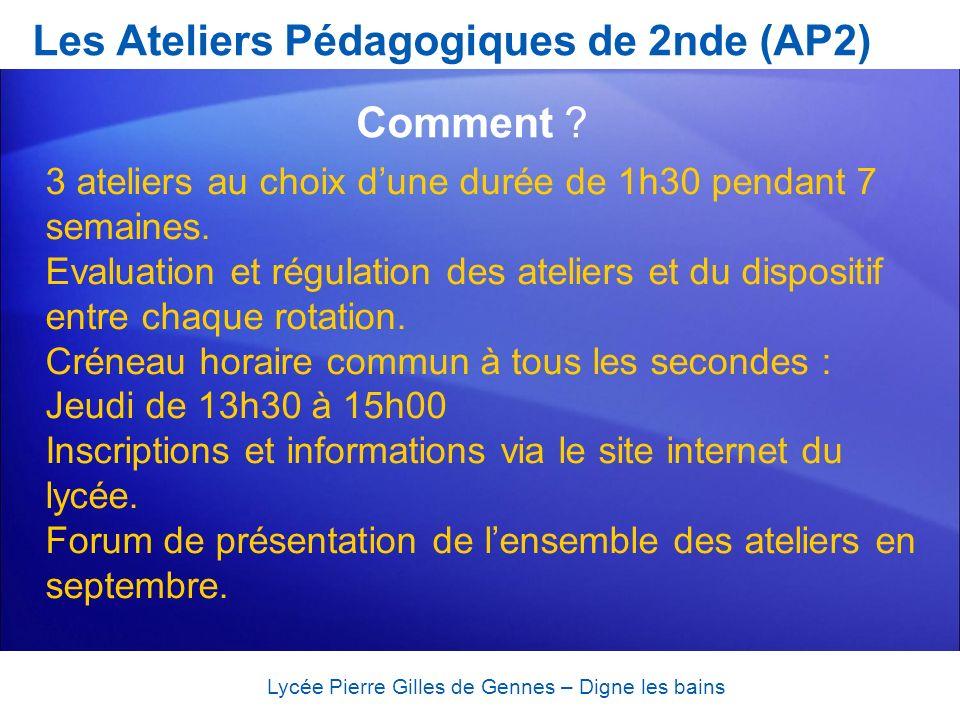 Lycée Pierre Gilles de Gennes – Digne les bains