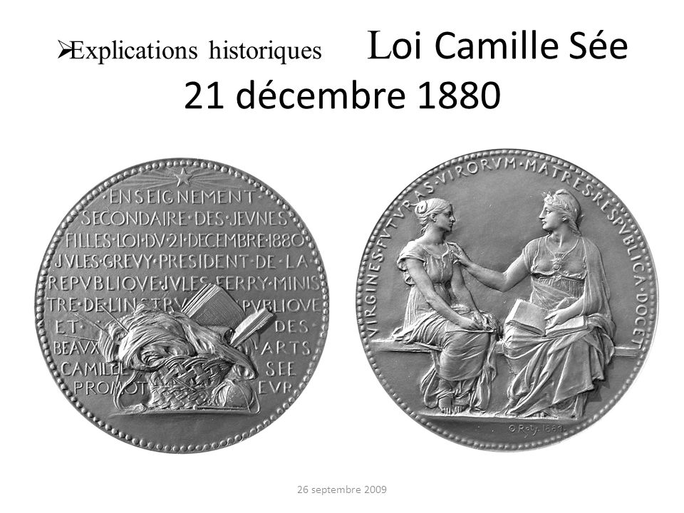 Explications historiques Loi Camille Sée 21 décembre 1880