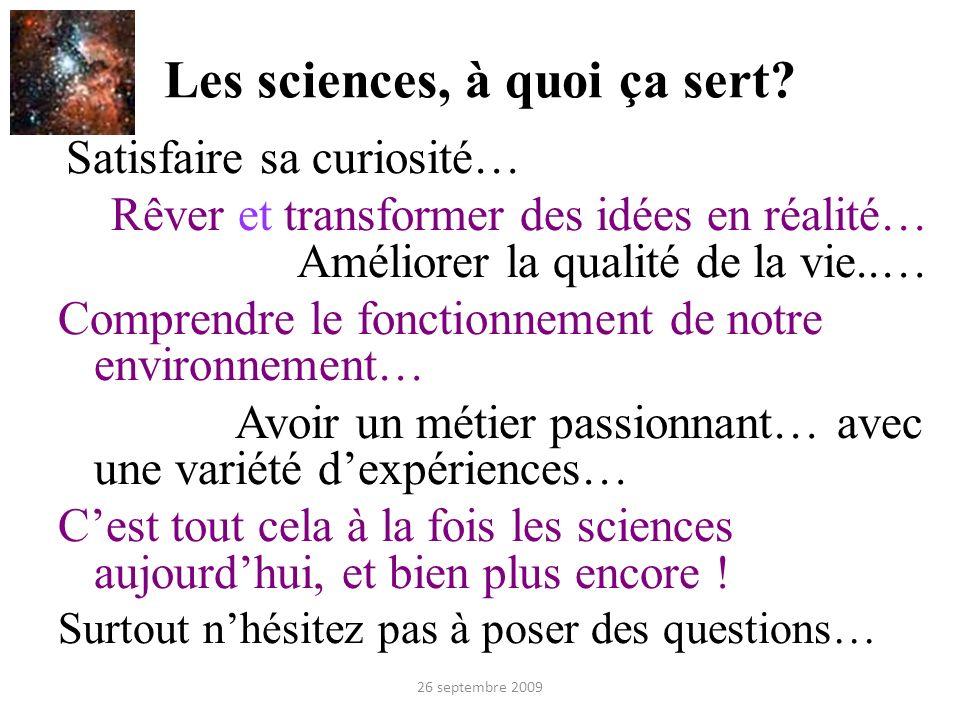 Les sciences, à quoi ça sert