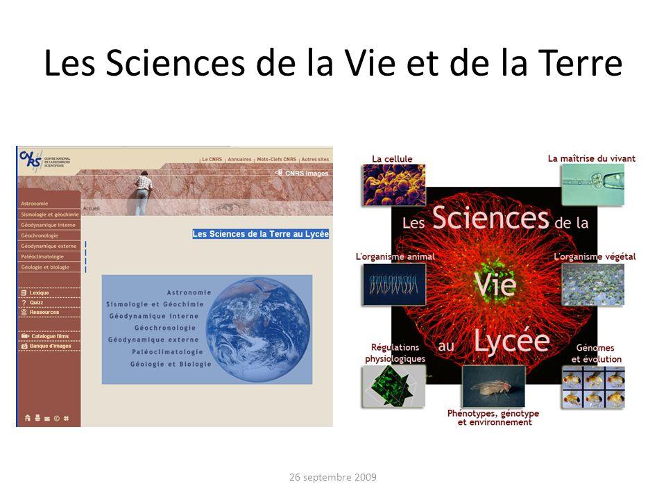 Les Sciences de la Vie et de la Terre