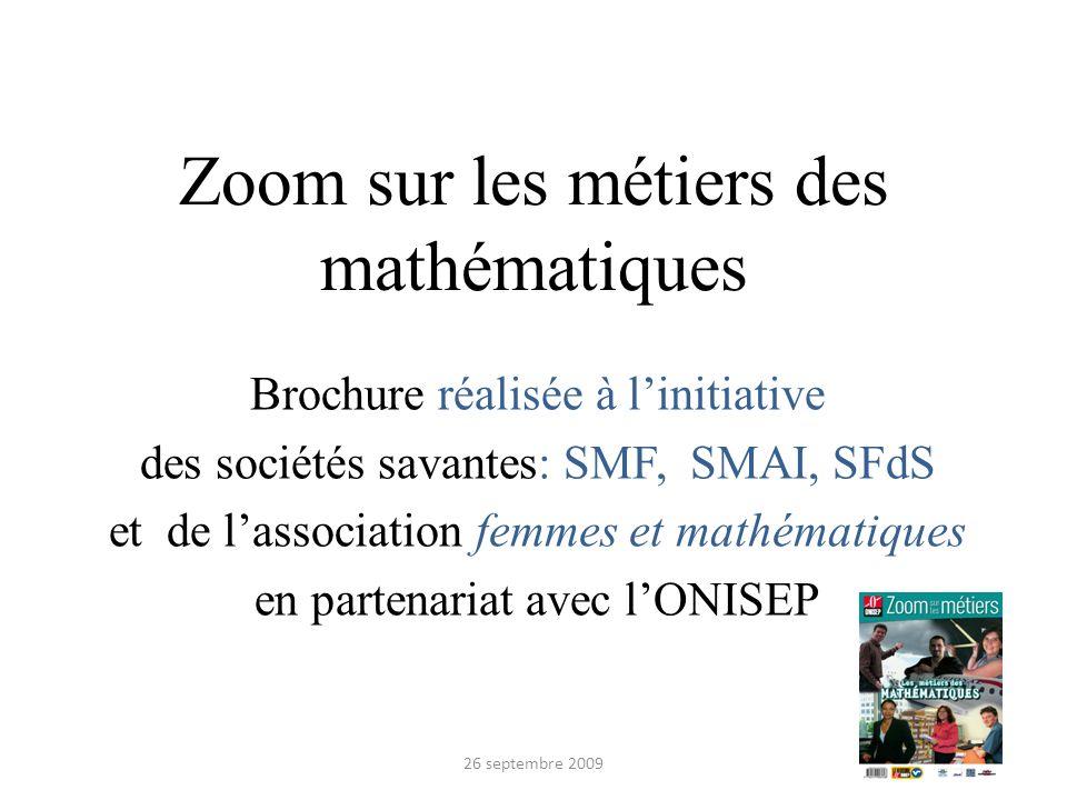 Zoom sur les métiers des mathématiques