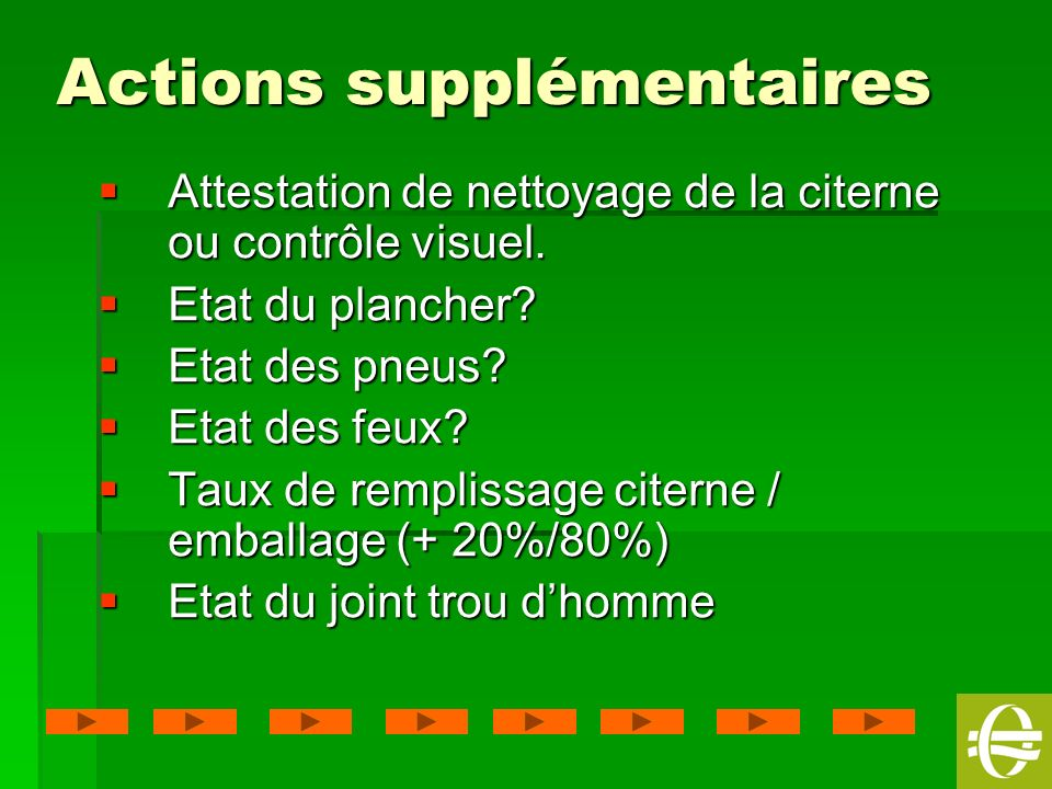 Actions supplémentaires