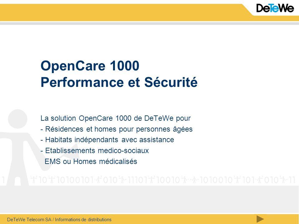 OpenCare 1000 Performance et Sécurité