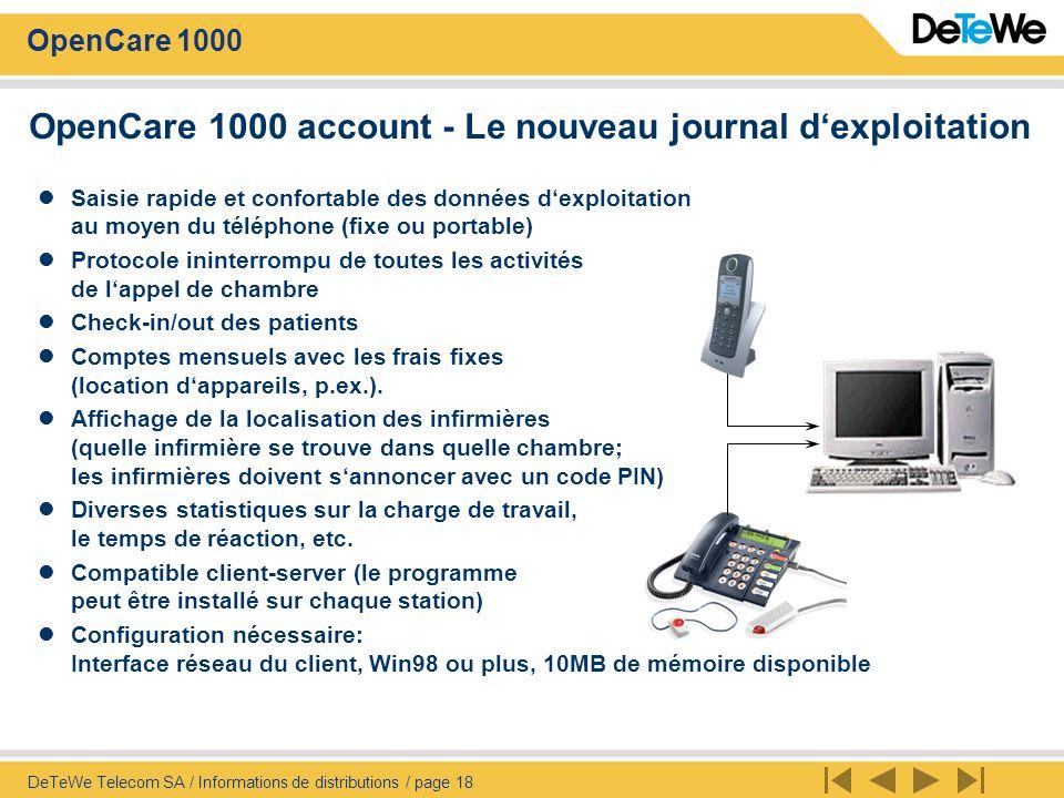 OpenCare 1000 account - Le nouveau journal d'exploitation