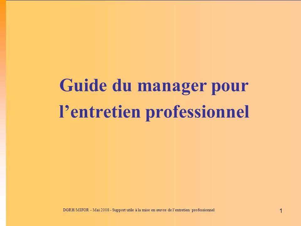 Guide du manager pour l'entretien professionnel