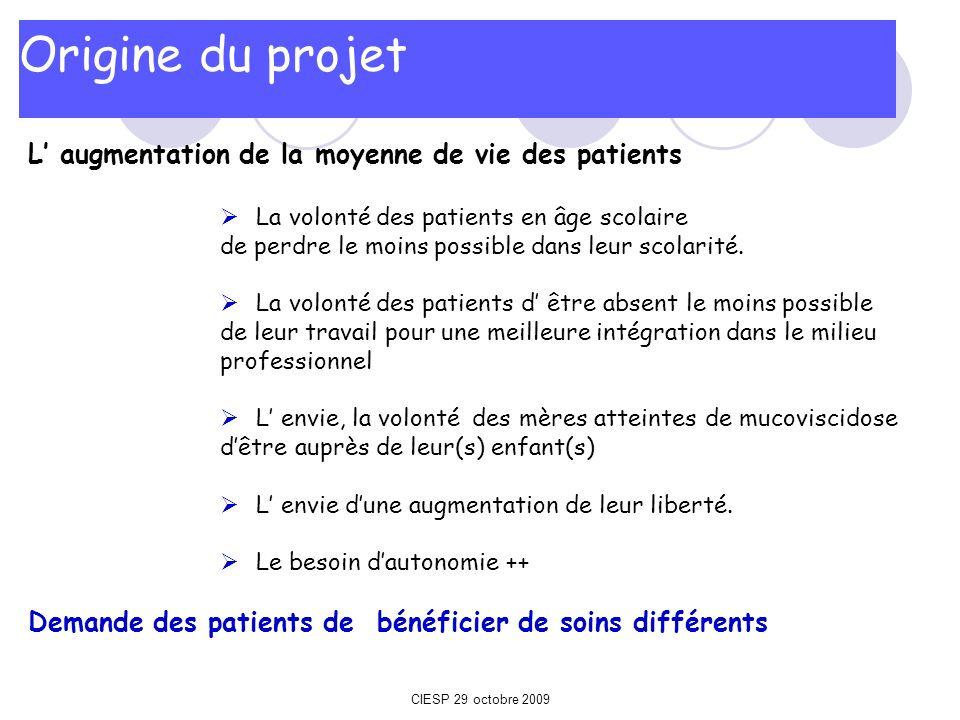 Origine du projet L' augmentation de la moyenne de vie des patients