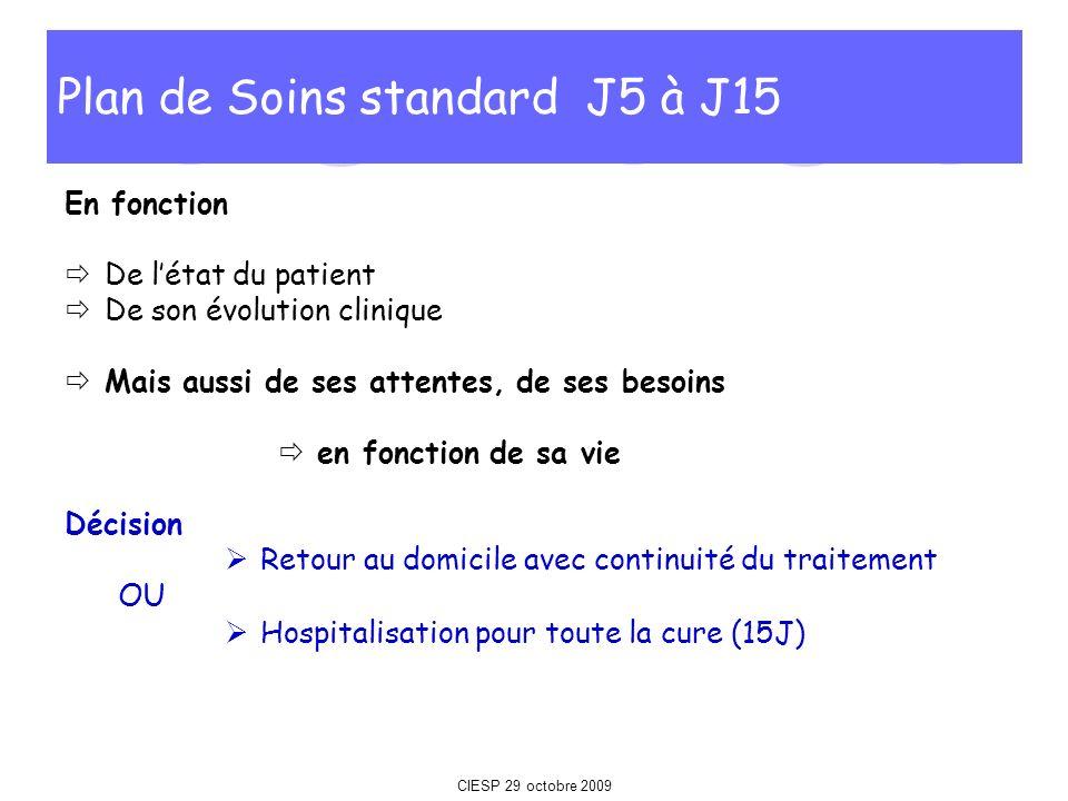 Plan de Soins standard J5 à J15