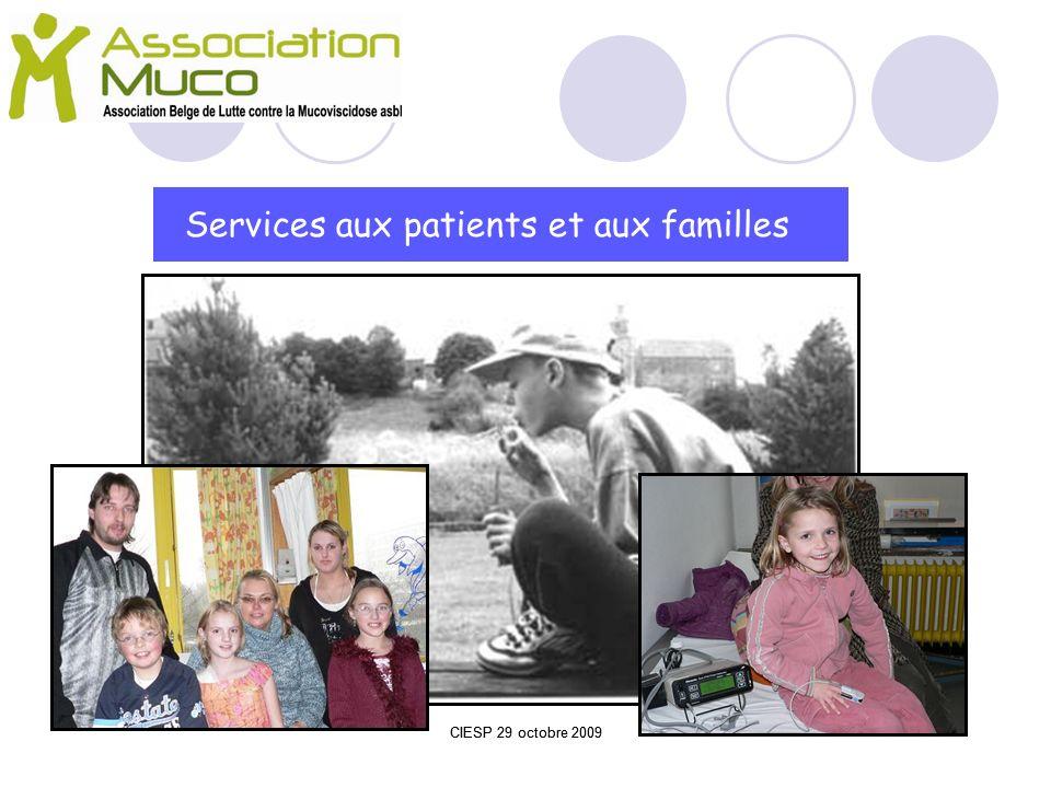 Services aux patients et aux familles