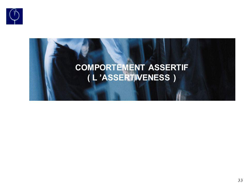 COMPORTEMENT ASSERTIF