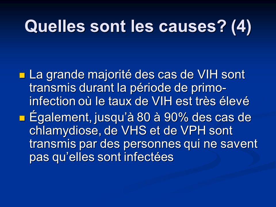 Quelles sont les causes (4)