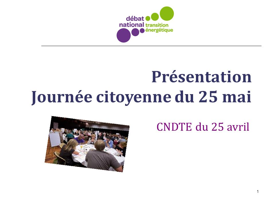 Présentation Journée citoyenne du 25 mai