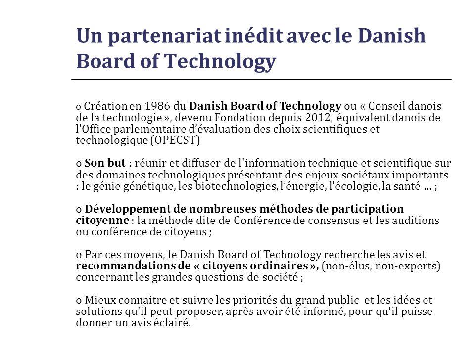 Un partenariat inédit avec le Danish Board of Technology