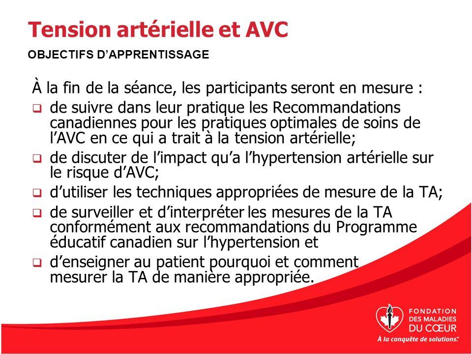 Tension artérielle et AVC
