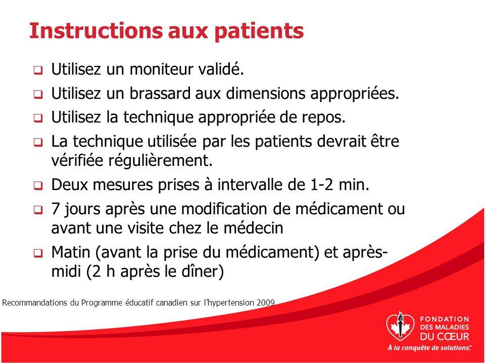 Instructions aux patients