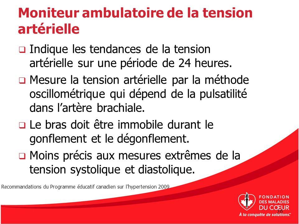 Moniteur ambulatoire de la tension artérielle