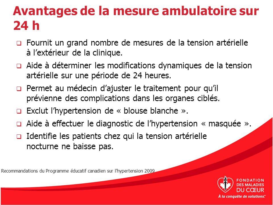 Avantages de la mesure ambulatoire sur 24 h