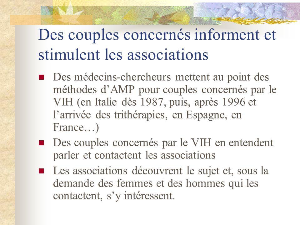 Des couples concernés informent et stimulent les associations