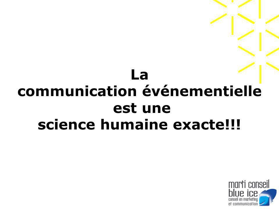 La communication événementielle est une science humaine exacte!!!