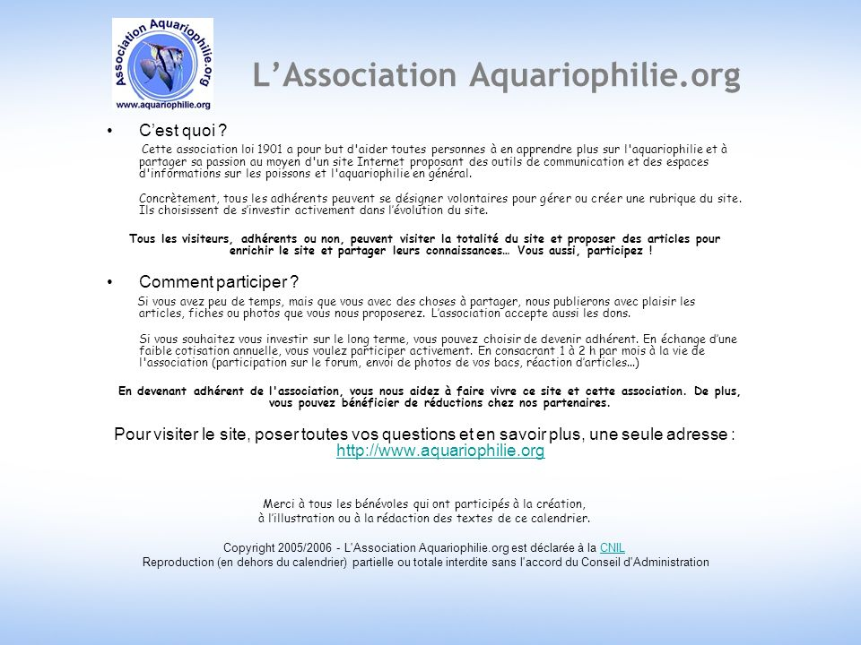 L'Association Aquariophilie.org