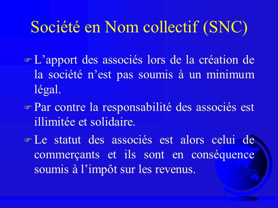 Société en Nom collectif (SNC)