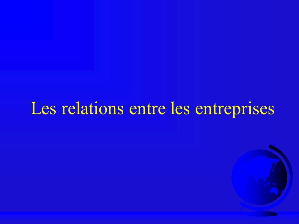 Les relations entre les entreprises