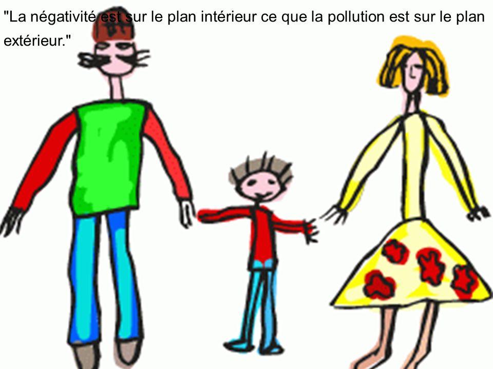 La négativité est sur le plan intérieur ce que la pollution est sur le plan extérieur.