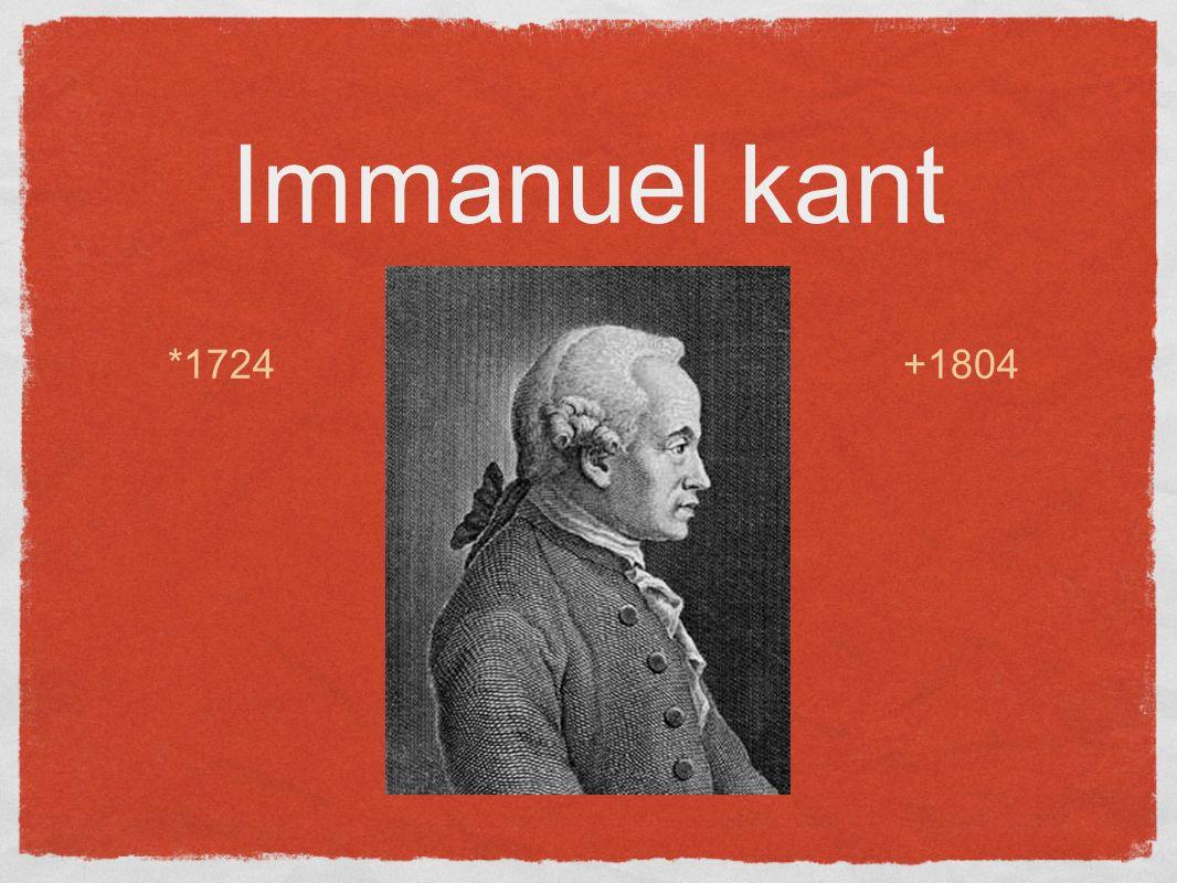 Immanuel kant *1724 +1804