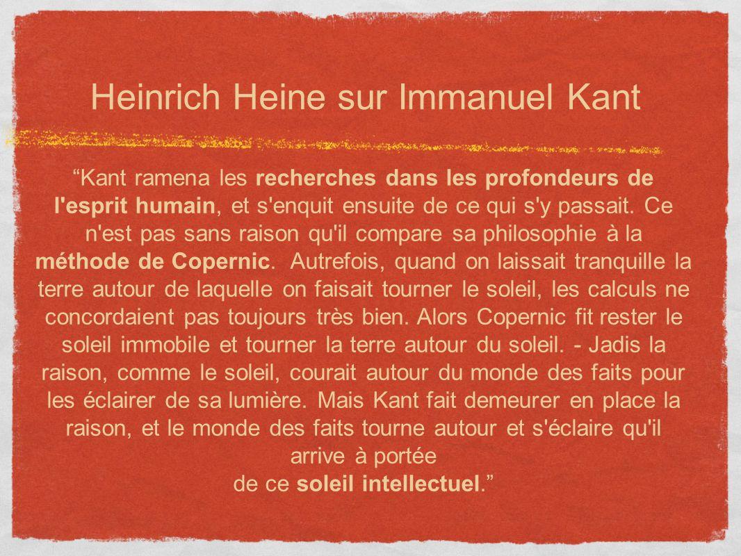 Heinrich Heine sur Immanuel Kant