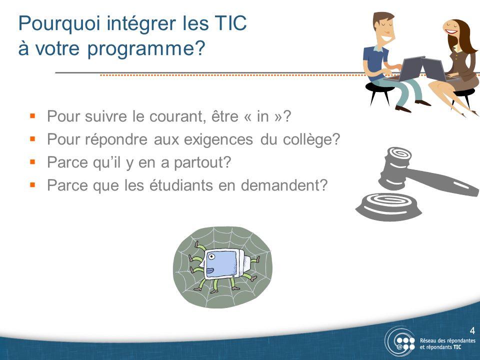 Pourquoi intégrer les TIC à votre programme