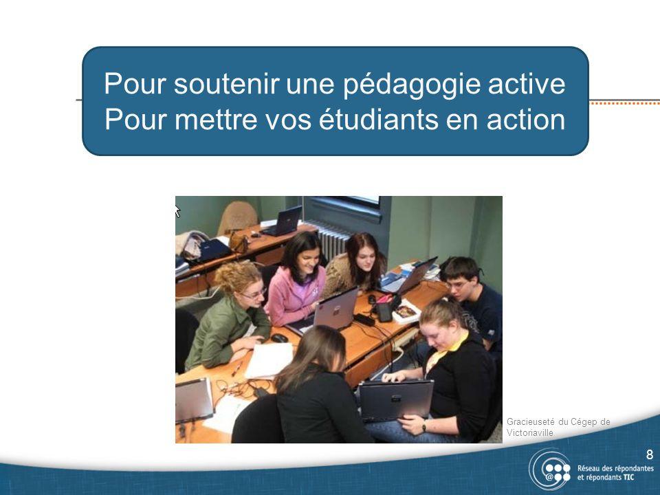 Pour soutenir une pédagogie active Pour mettre vos étudiants en action